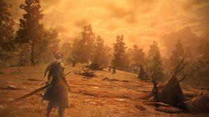 Открытый мир и красивый закат Toukiden 2